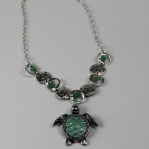 Green Aventurine and Sea Turtle Jewelry Set