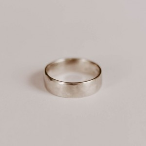 Forged Rustic Wedding Ring, Sterling Silver Band, Unique, Minimalist, Silver Ring, Handmade, Simple, Women's Wedding Band, Mens Wedding Band