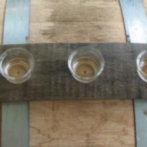 Kentucky Bourbon Barrel Stave Votive Rack, free shipping