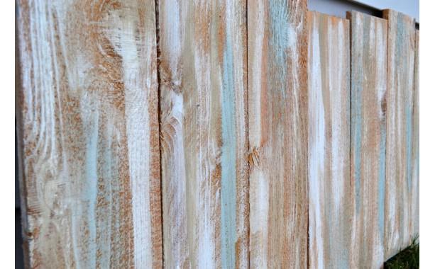 Staggered Reclaimed Wood Shabby Chic Headboard Wall Art