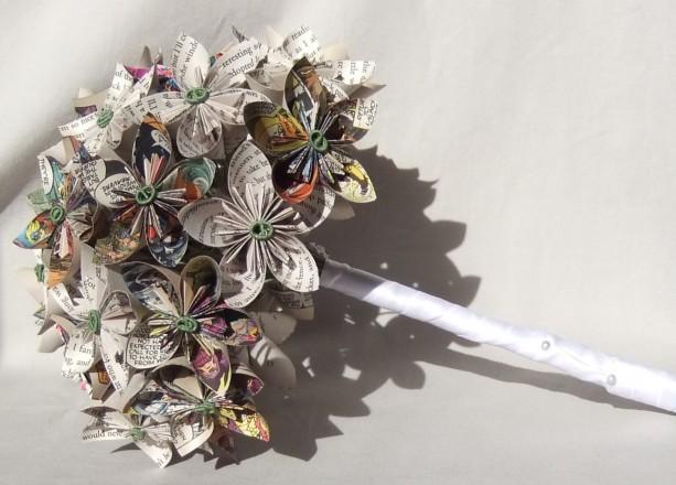 custom paper flower bridal bouquet aftcra