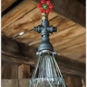 Iron Pendant Lighting With Wire Cage