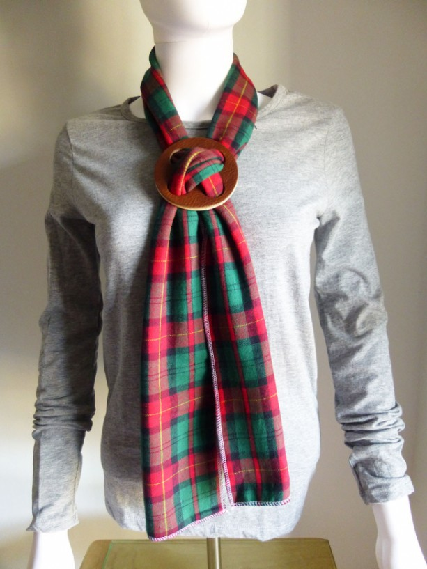 Leather Concho and Double Sided Scarf Set
