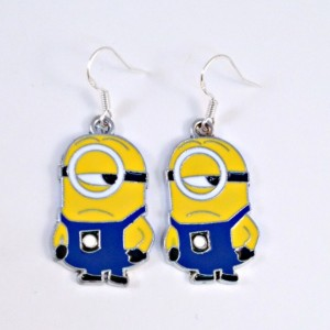 Solid Sterling Minion Earrings