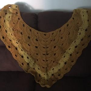Bev's crochet shawl