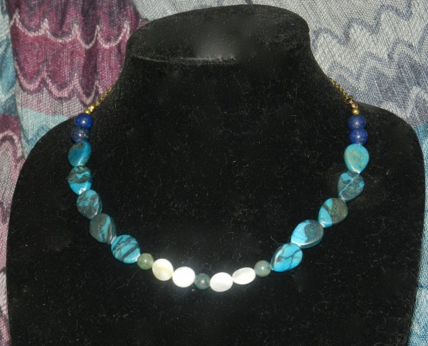 Blue Multi-Stone Necklace A09202