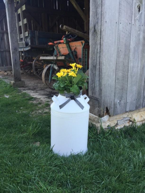 Planter Milk Can Rustic Beach House Decor Front Porch Decor Ou