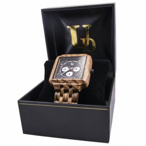 Unique Gift For Him: UD Mens Zebra Multi-Function Chronograph Personalized Engraved Wooden Watch, Anniversary Gift for Men, Groomsmen Gift