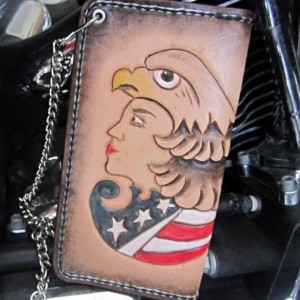 Biker wallet, chain wallet with wallet chain, leather chain wallet, trucker wallet, leather roper wallet with chain, wallet, mens wallet