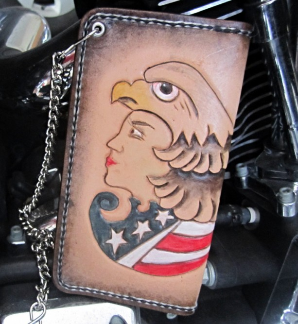 Biker wallet, chain wallet with wallet chain, leather chain wallet, trucker wallet, leather roper wallet with chain, wallet, mens wallet