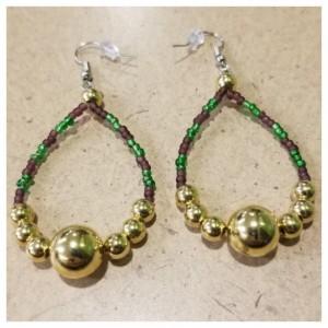 Mardi Gras Dangle Earrings