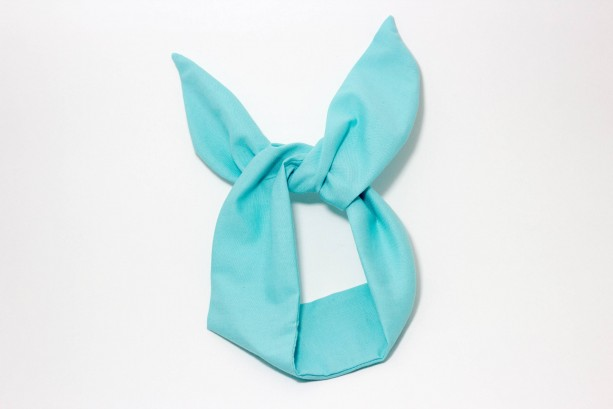 Tiffany Blue and Teal Solid Colored Wired Headband, Rockabilly Style, Rockabilly inspired, 50's and 60's style headbands, Handmade