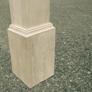 Solid wood staircase post newel post for stair PINE