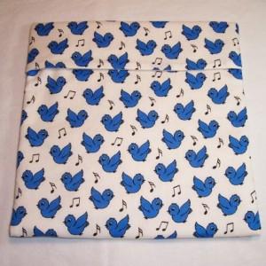 Blue Birds Print Microwave Bake Potato Bag,Song Birds,Baked Potato,Kitchen,Dining,Microwave Bake Potato