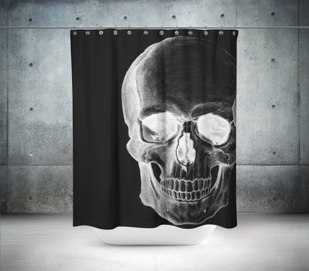 Retro Skull Shower Curtain