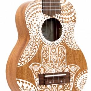 Soprano Hamsa Ukulele, Hand Painted Ukulele, Decorated Ukulele, instrument, ukelele, concert, tenor, baritone, guitar