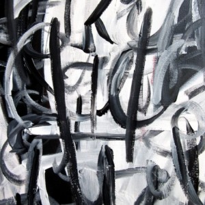 Large Black and White Painting, Abstract Expressionist Art, Black and White Abstract Art, 24 x 30 painting, Large Wall Art, Black White Art
