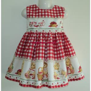 NEW Handmade Daisy Kingdom Friendship Garden Border Jumper Dress Custom Sz 12M-14Yrs