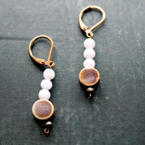 Circular Stone Earrings