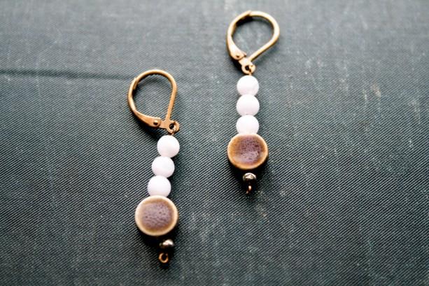Circular Stone Earrings