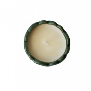 Scented soy candle in Ceramic Pot