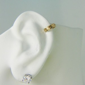 POST Pierced Cartilage Helix Hoop Hex piercing Conch Earring Body Jewelry Upper Ear Conch Tragus Rook Body Piercing Gold Celtic MC108GFP
