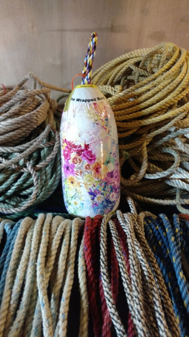 flower print! A real Maine lobster buoy!