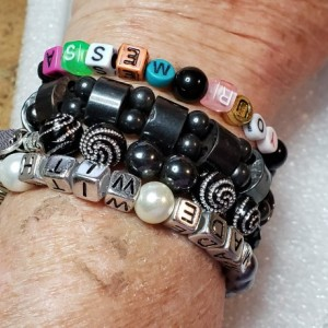 Design Your Own Memory Wire  or Stretch Beaded Message Friendship Bracelet