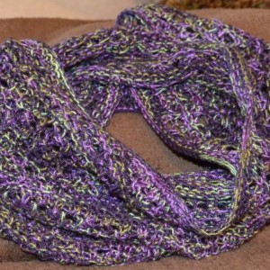 Knitted  Cowl/Scarf - Purple