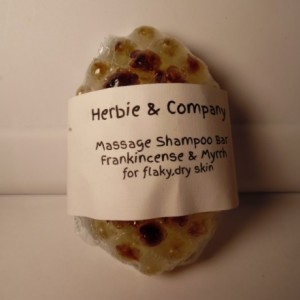 Herbie & Company Frankincense and Myrrh Massage Shampoo Bar