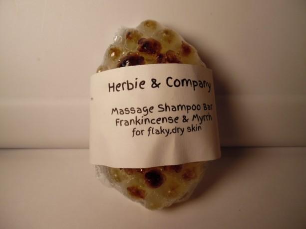 Herbie & Company Frankincense and Myrrh Massage Shampoo Bar