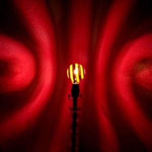 Hand-Painted Purple Spiral Mood-Light Bulb
