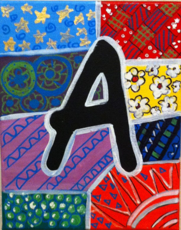 "ALPHABET LETTER ""A"" - Greeting Card By Artist A.V.Apostle"