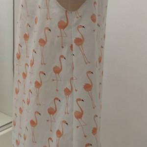 Short Sleeve Flamingo Dress