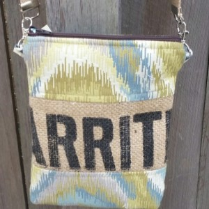 Cross Body Hobo- Upcycled Coffee Burlap