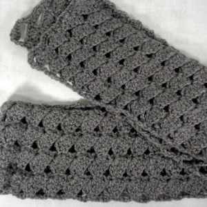 Grey scarf - long grey scarf - extra long scarf - winter scarf - long winter scarf - knit scarf - crochet scarf - gift for girlfriend