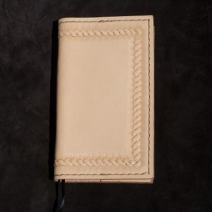 Small Light Color Leather Notebook/Journal, Refillable 3x5 paper