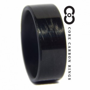 Carbon Fiber Unidirectional Black Gloss Ring