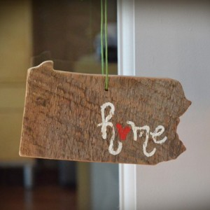 Rustic Custom Pennsylvania Ornament