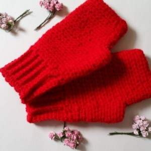 Finglerless Gloves - Fingerless Wrist Warmers, Arm Warmers, Texting Gloves Crochet, Fingerless Mittens