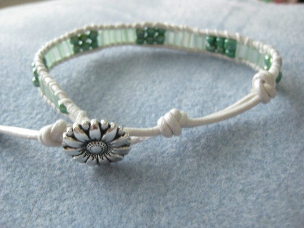 Single Leather wrapped bracelet Designer look without designer price tag LW18