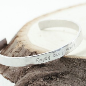 Engraved bracelet sterling silver, personalized bracelet skinny cuff custom made in USA 1/4 wide