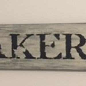 Handmade 'Bakery' Sign