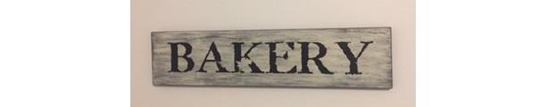 Handmade 'Bakery' Sign