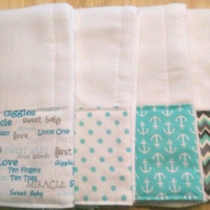 Burp Cloths for Boy, Baby Shower Gift,  Baby Gift, Baby Boy Gift, Burp Rags, Spit Rags