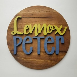 Personalized Name or Word Wood Round Sign
