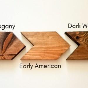 Set of 3 wooden arrows
