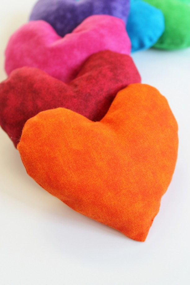 Heart Shaped Rainbow Bean Bags Set Of 6 Aftcra