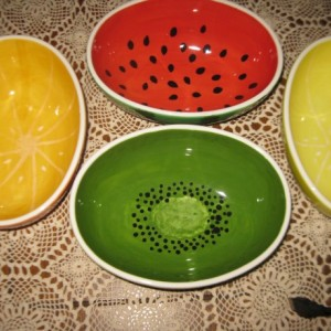 Hand painted large Watermelon bowl