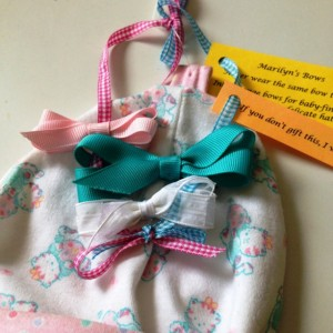 Baby Hat with Interchangeable Bows